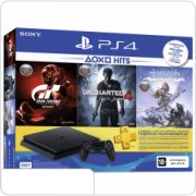 Sony PlayStation 4 Slim 500 ГБ POCTECT черная (CUH-2108A)  + 3 игры: Gran Turismo Sport + Uncharted 4 + Horizon Zero Dawn Complete Edition + 3 месяца PlayStation Plus main-22337-ps-4275329