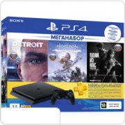 Sony PlayStation 4 Slim 1TБ + Detroit + Horizon + TLoU, POCTECT, черная (CUH-2208B) main-24824-ps-467296