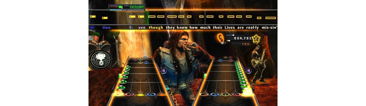 Скриншот игры Guitar Hero: Warriors of Rock (Игра + Гитара) для Xbox360
