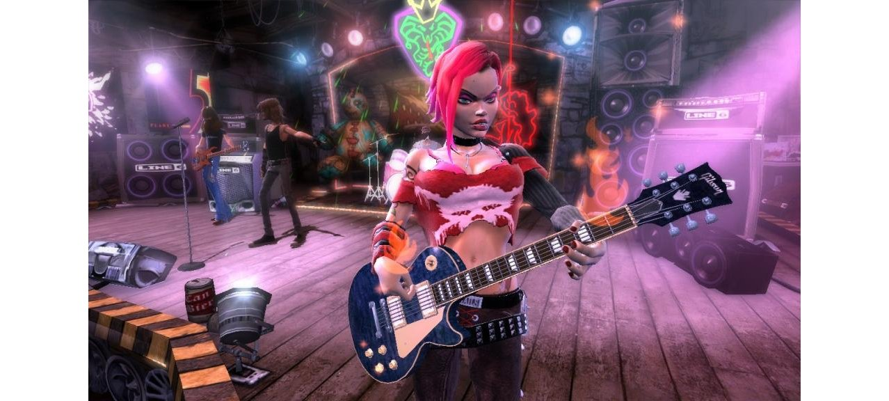 Скриншот игры Guitar Hero 3: Legends of Rock + Гитара Wireless Guitar для Wii