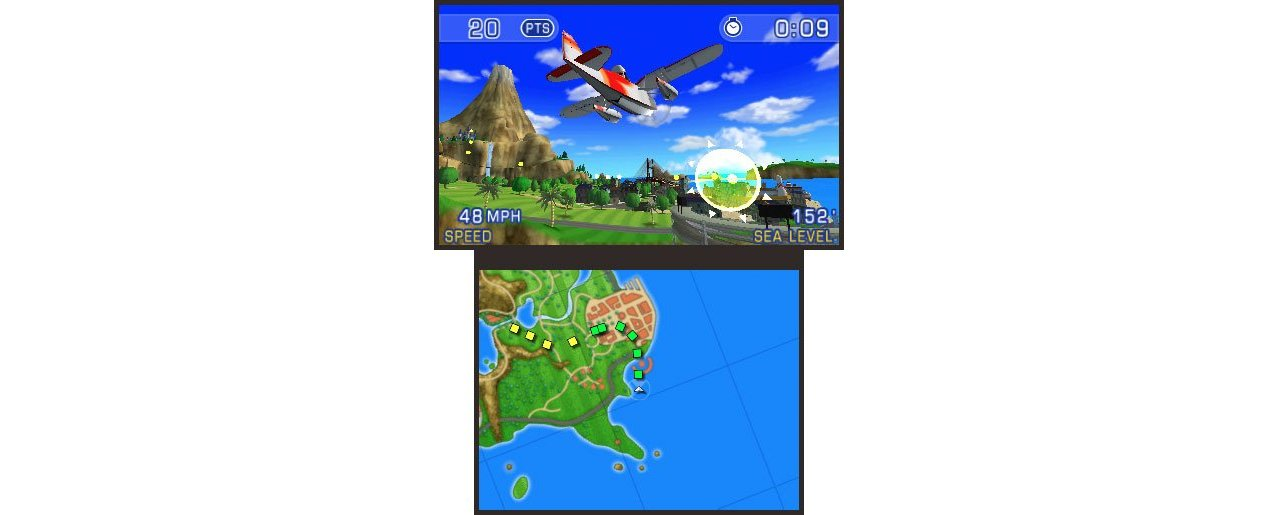 Скриншот игры Pilotwings Resort 3D (Б/У) для 3DS
