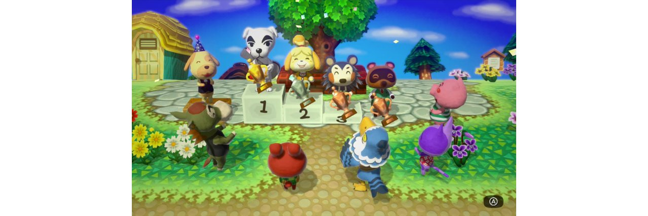 Скриншот игры Animal Crossing: amiibo Festival +  2 фигурки amiibo (Isabele & Digby) для Wii