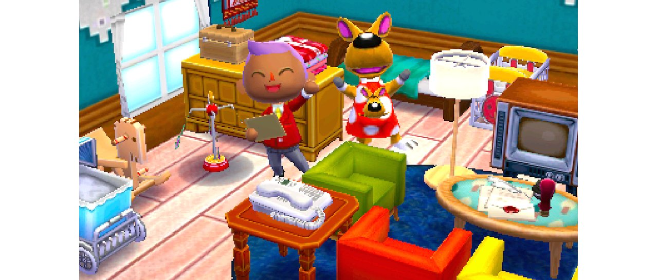 Скриншот игры Animal Crossing: Happy Home Designer для 3DS