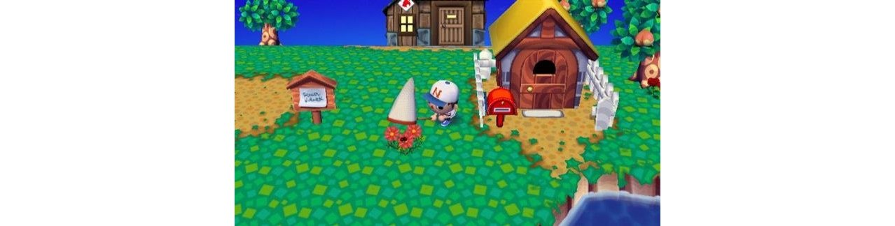 Скриншот игры Animal Crossing: Lets Go to the City Nintendo Select для Wii