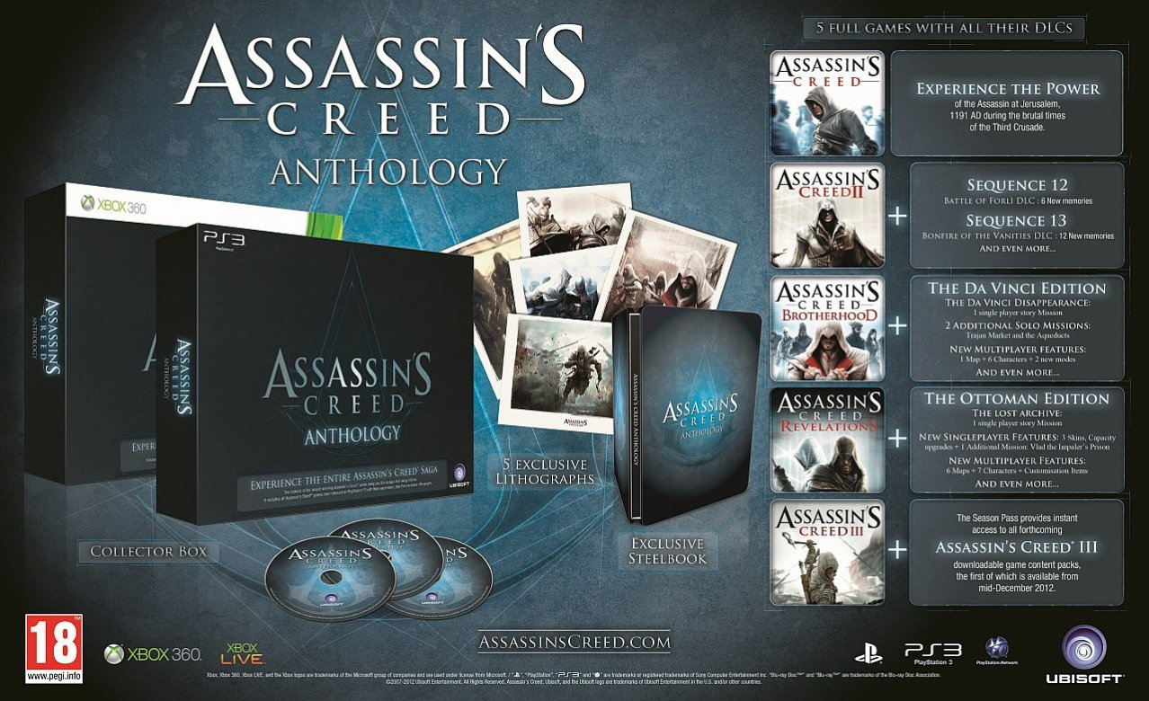Скриншот игры Assassin's Creed - Антология (Б/У) для PS3