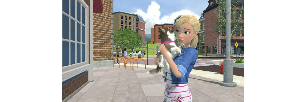 Скриншот игры Barbie and Her Sisters: Puppy Rescue для Wii