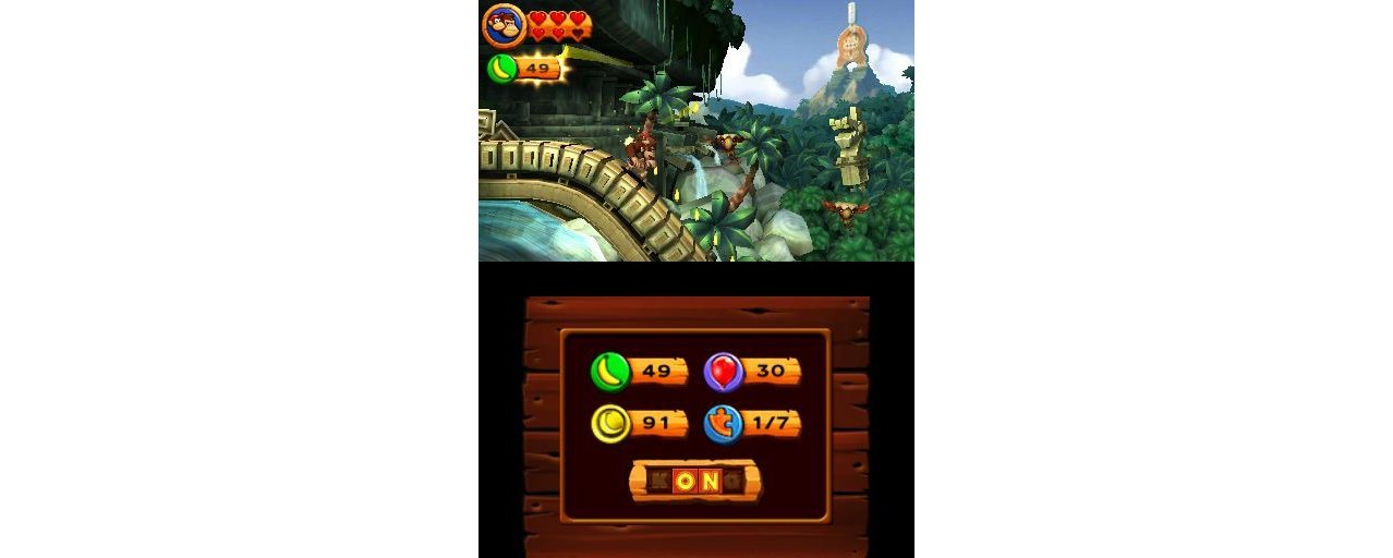 Скриншот игры Donkey Kong Country Returns (Б/У) для 3DS