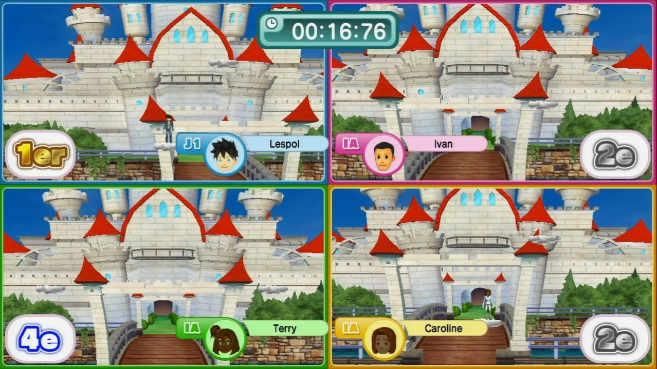 Скриншот игры Family Party 30: Great Games Obstacle Arcade для Wii