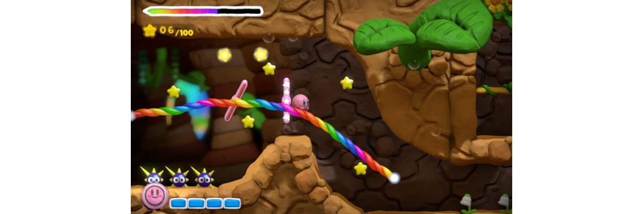 Скриншот игры Kirby and the Rainbow Paintbrush (Б/У) для Wii