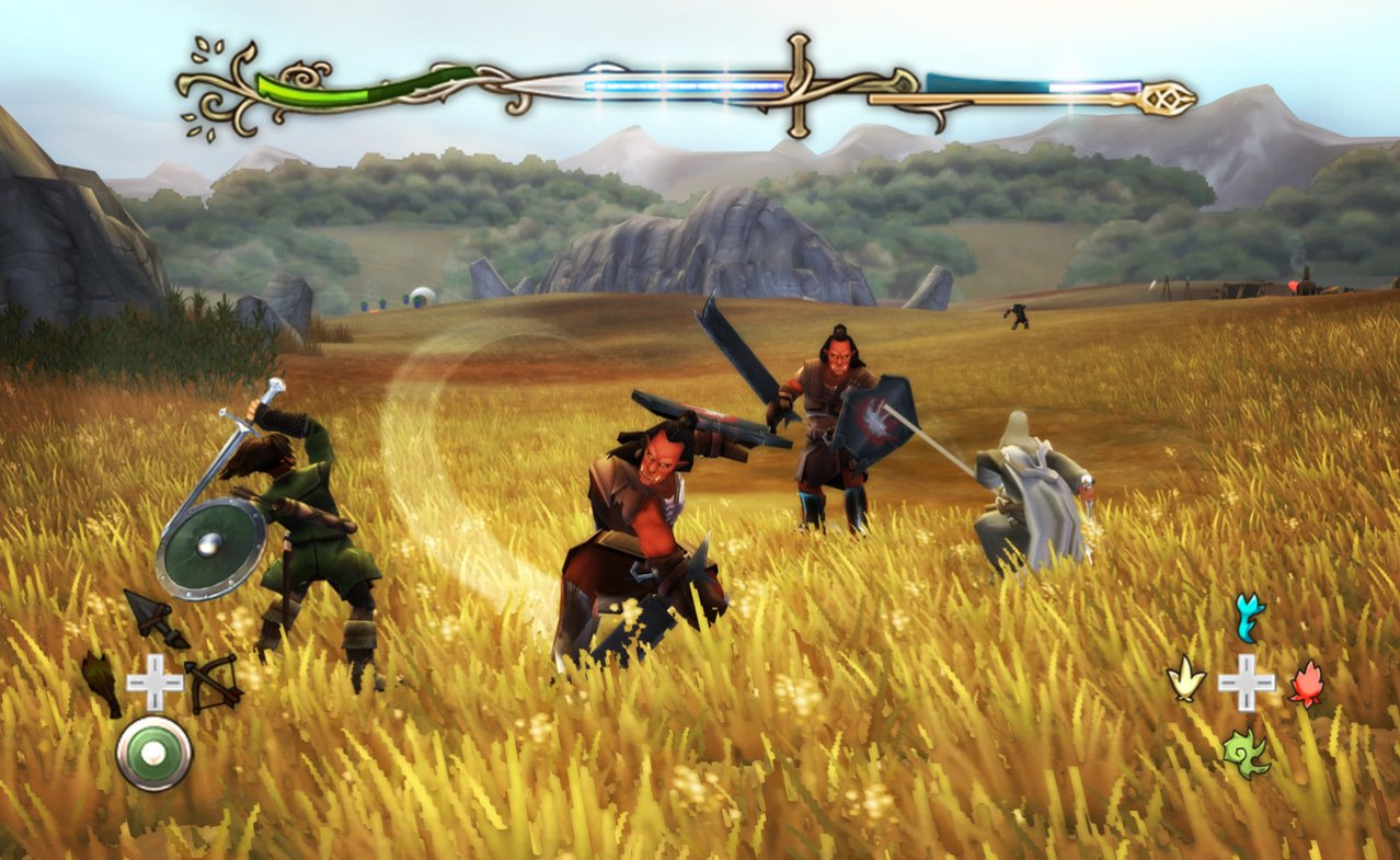 Скриншот игры The Lord of the Rings: Aragorns Quest (Б/У) для Wii