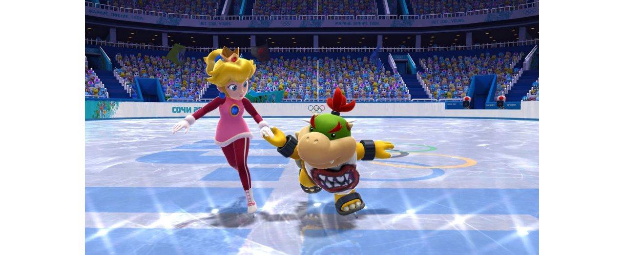 Скриншот игры Mario and Sonic at the Sochi 2014: Olympic Winter Games для Wii
