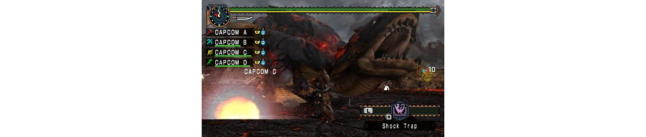 Скриншот игры Monster Hunter Freedom Unite для PSP