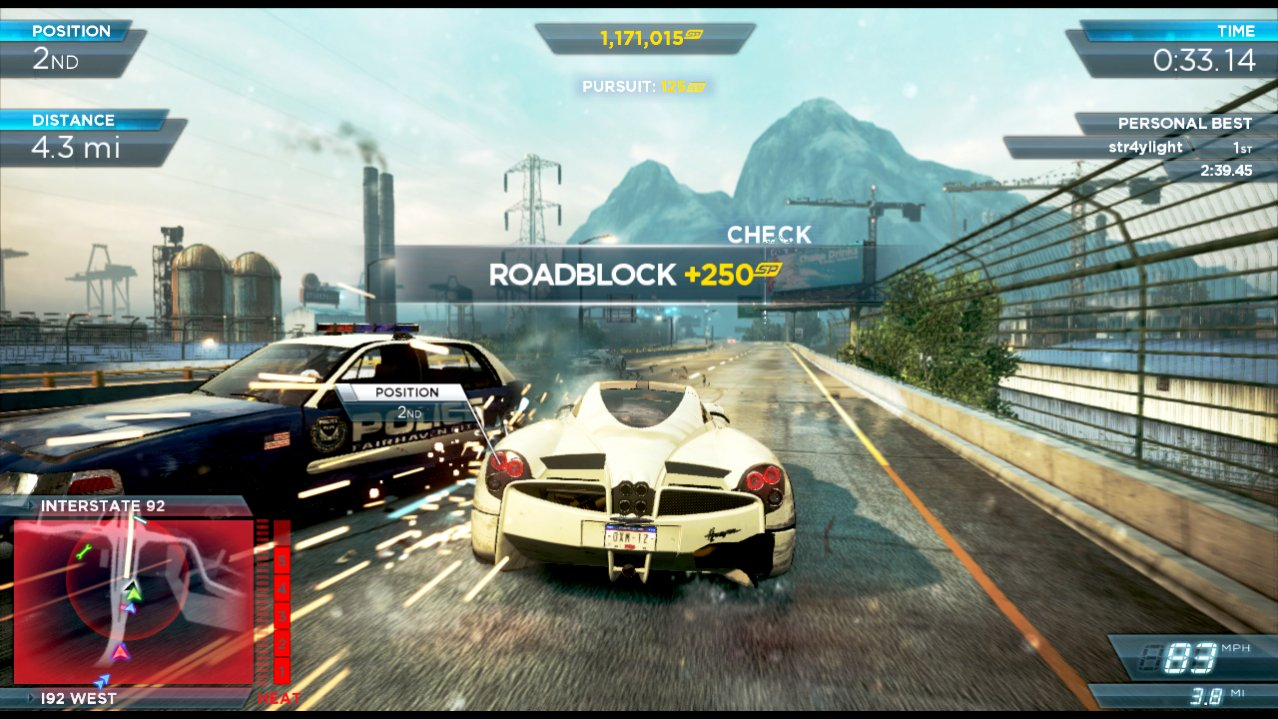Скриншот игры Need for Speed Most Wanted 2012 для Wii