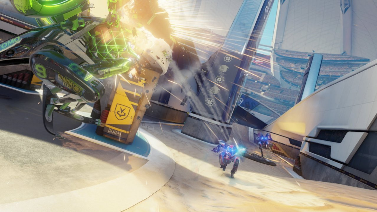 Скриншот игры RIGS Mechanized Combat League для PS4