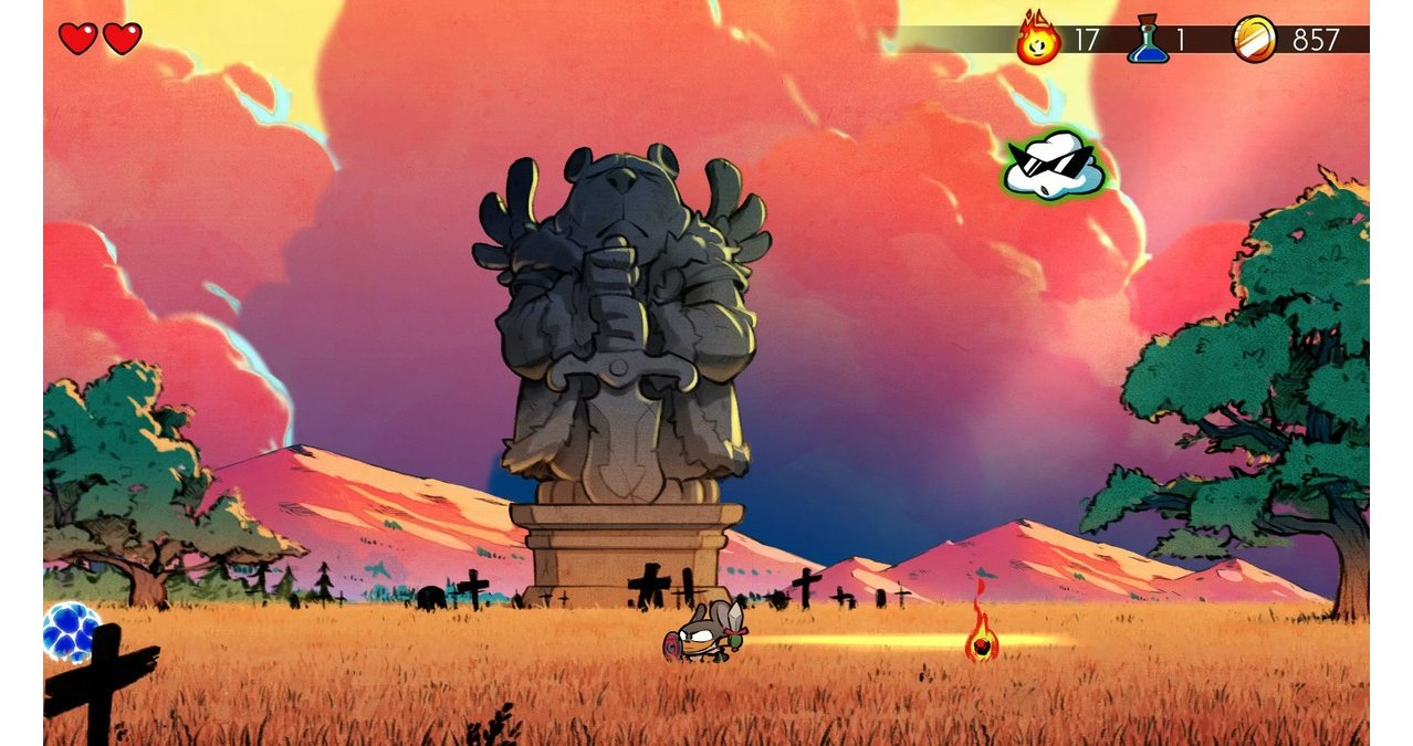 Скриншот игры Wonder Boy: The Dragons Trap для Switch