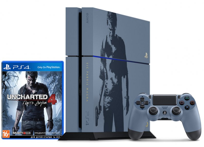 Главное изображение Sony PlayStation 4 1TB Uncharted 4 Limited Edition (CUH-1208B) РОСТЕСТ <small>(PS4)</small>