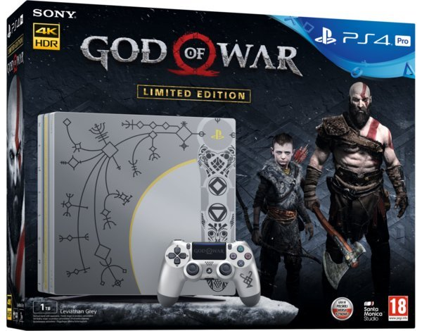 Главное изображение Sony PlayStation 4 Pro 1TB, Limited Edition God of War Bundle <small>(PS4)</small>
