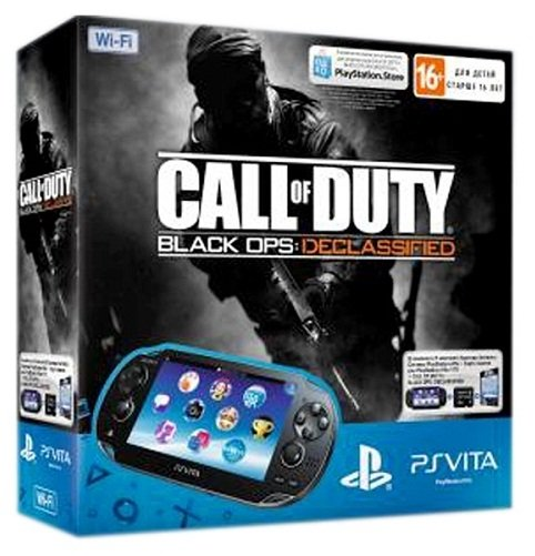 Главное изображение Sony PlayStation Vita WiFi Black Rus (PS Vita Model 1008) + PSN код активации Call of Duty: Black Ops. Declassified + Карта памяти 4 Гб <small>(PSVita)</small>