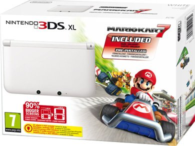 Главное изображение Nintendo 3DS XL HW White /белая/ (РОСТЕСТ) + Mario Kart 7 <small>(3DS)</small>