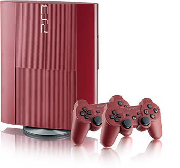 Главное изображение Sony PlayStation 3 Super Slim 12 GB Red + 2 DualShock Red <small>(PS3)</small>
